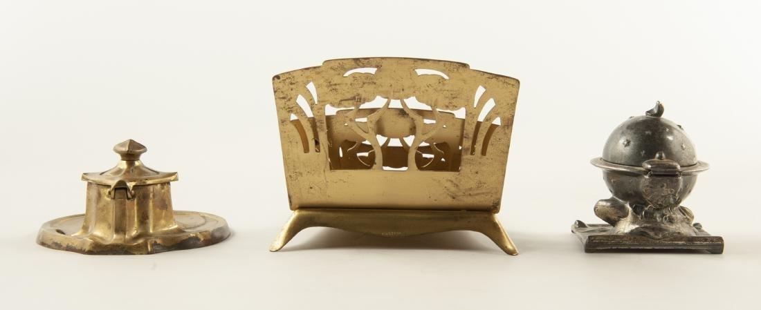 3 Brass Desk Accessories - 2