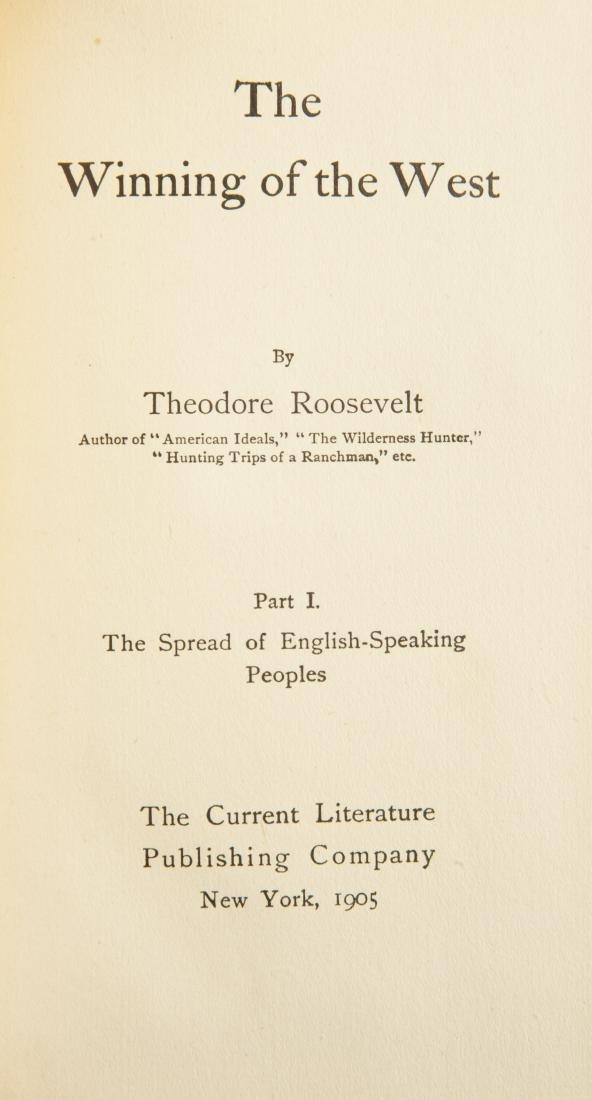 7 Vols. Theodore Roosevelt Winning of the West - 3