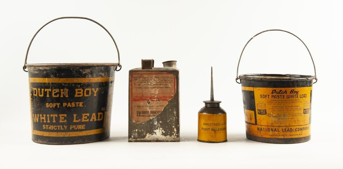 4 Vintage Tins Incl Dutch Boy Pails - 2