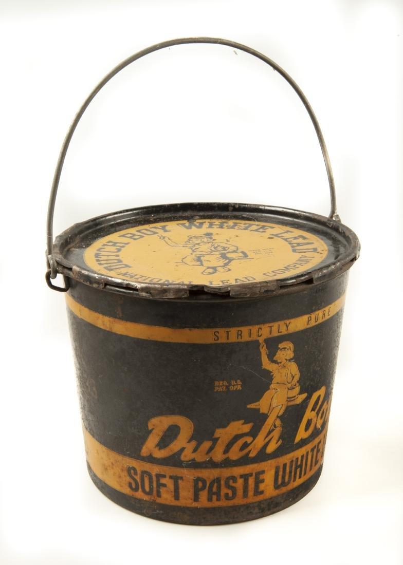 4 Vintage Tins Incl Dutch Boy Pails - 3
