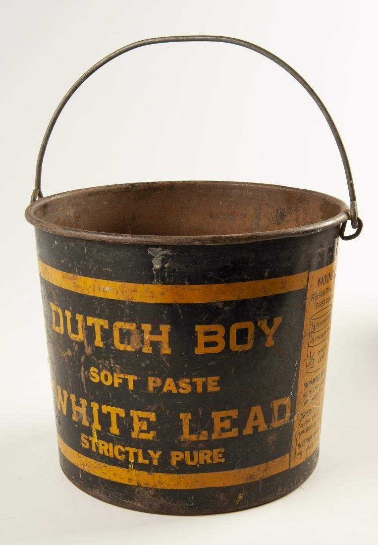 4 Vintage Tins Incl Dutch Boy Pails - 5
