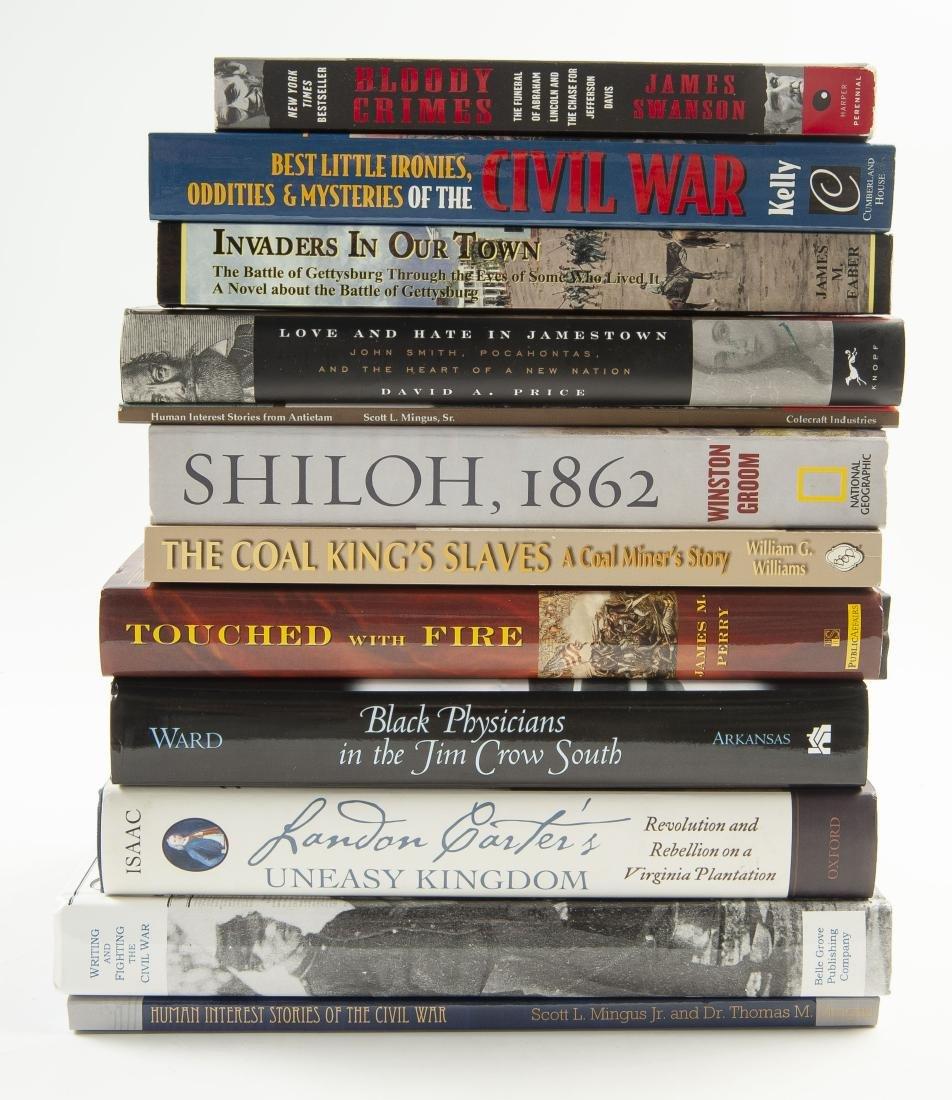12 Civil War Books, All Signed
