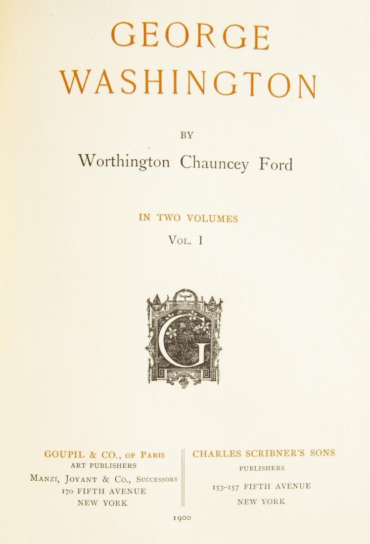 2 Vols. George Washington by W.C. Ford, 1900 - 4