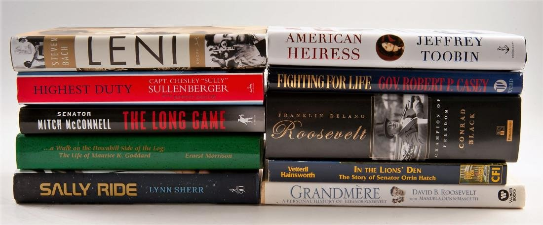 10 Biographical Books, All Signed