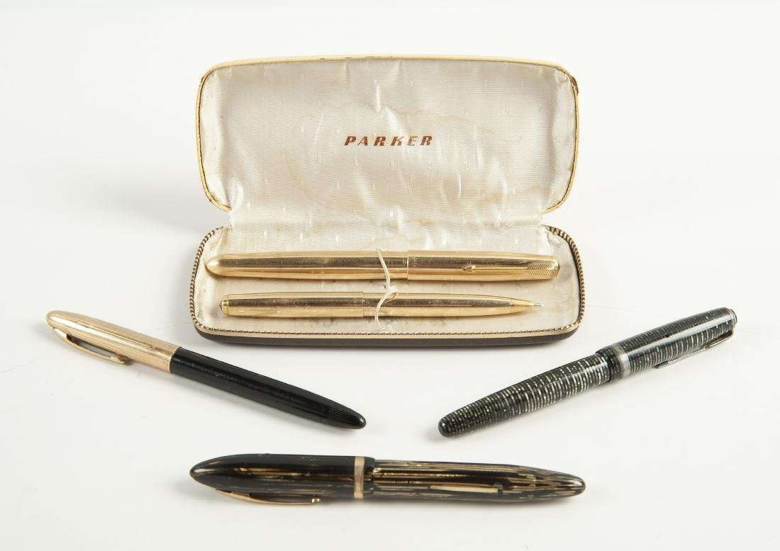 5 Pens Incl Parker and Sheaffer