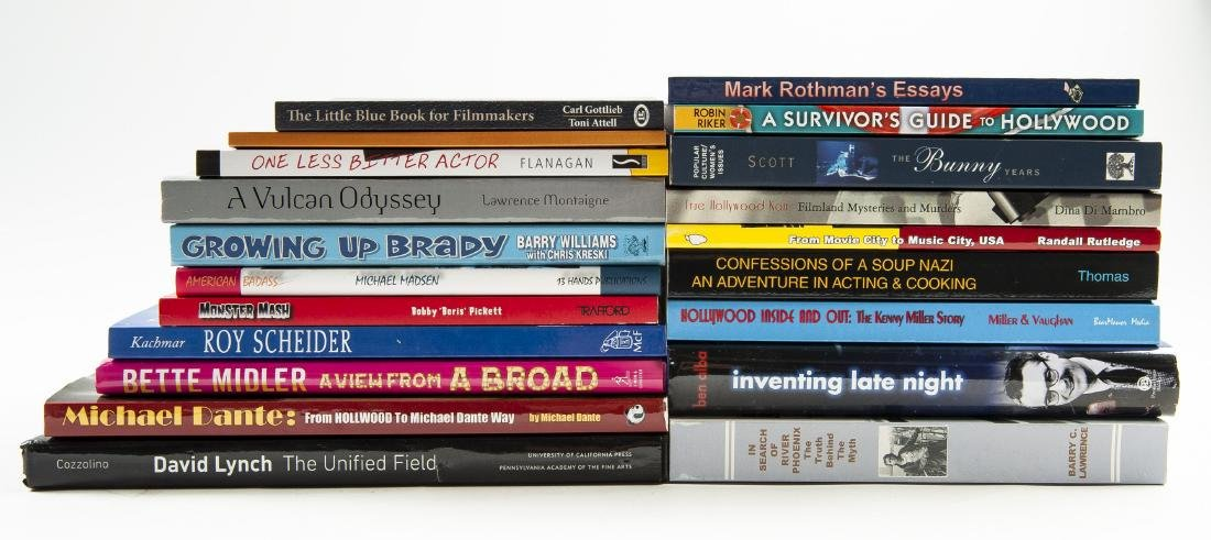 20 Hollywood Books, All Signed