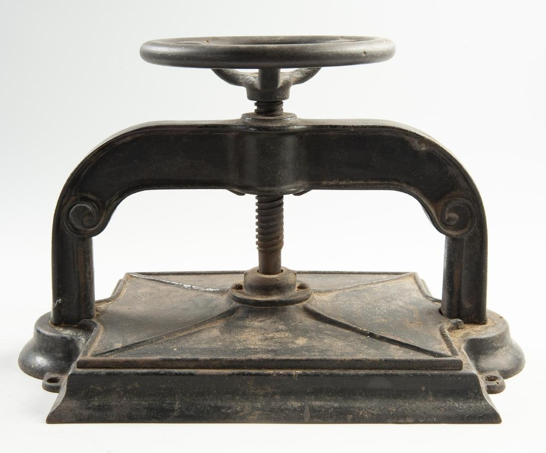 Antique Cast Iron Book Press - 2