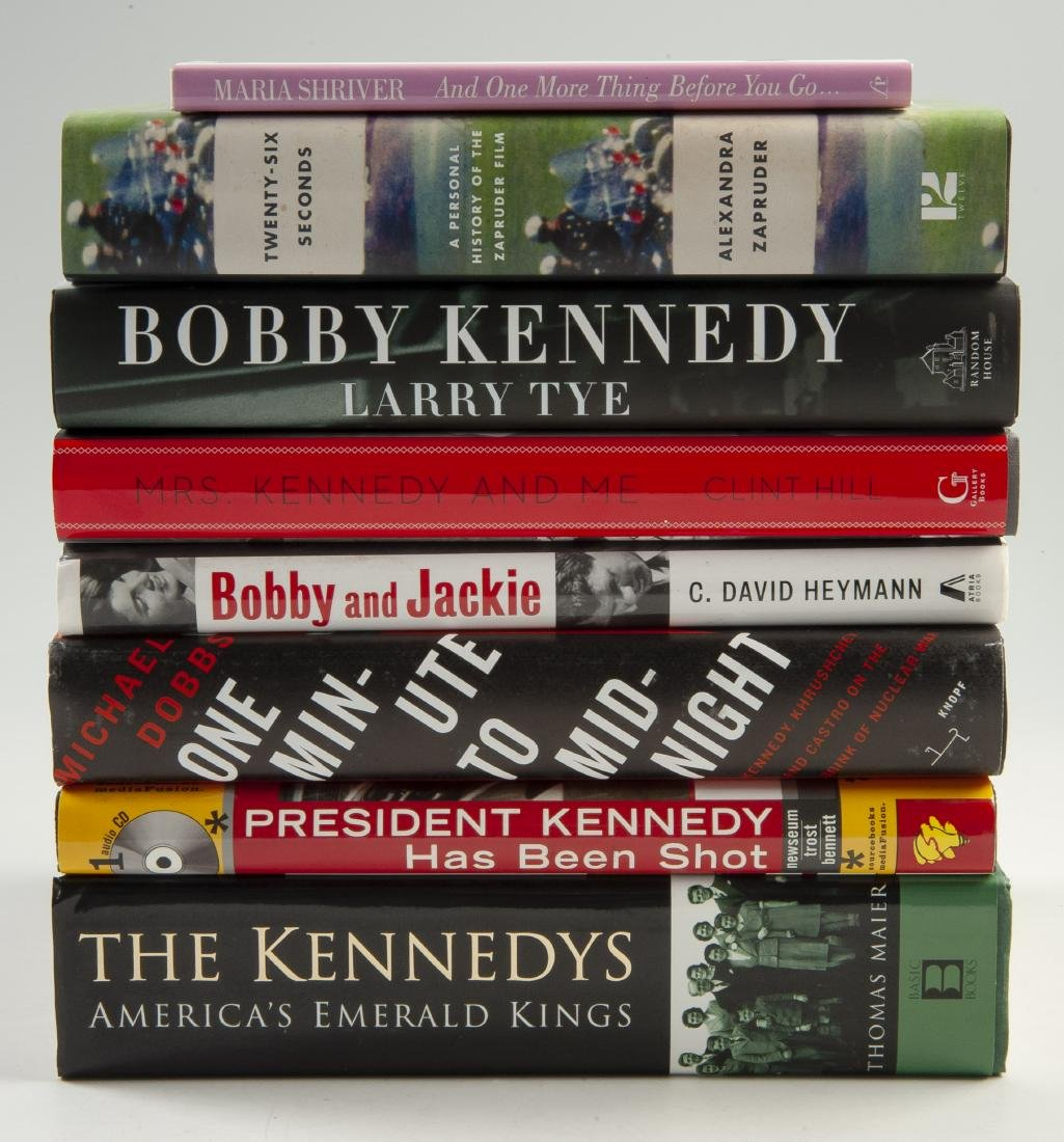 8 Books About Kennedy, All Signed