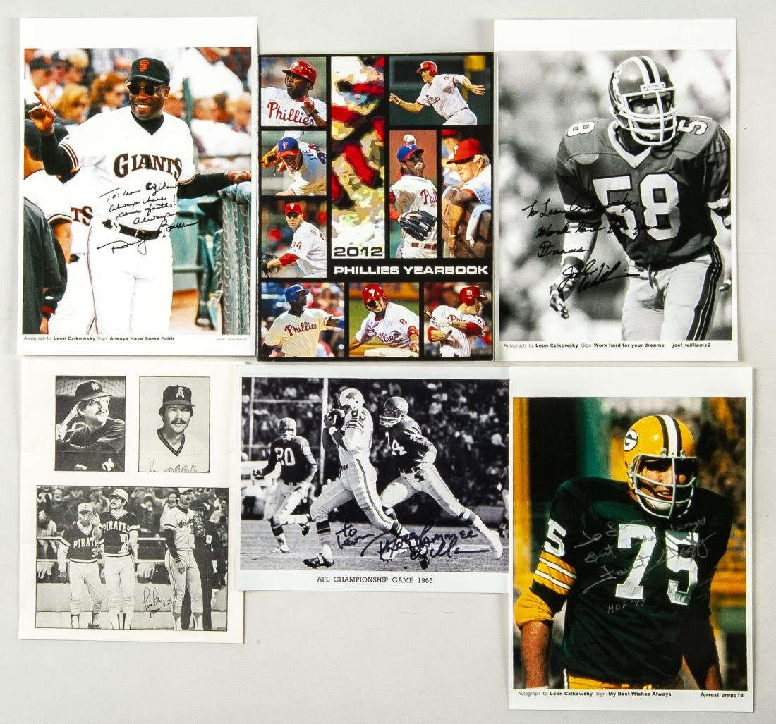 30 Items Auctographed by Athletes - 2