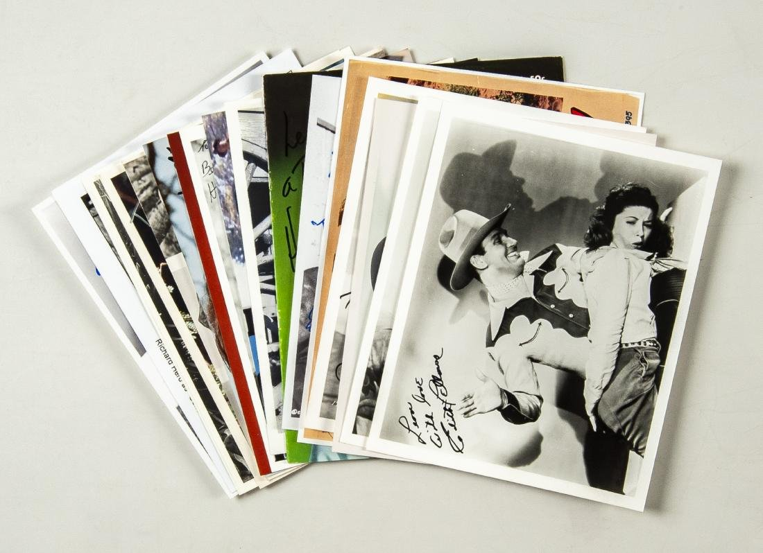 15 Military and Western Movie Autographs