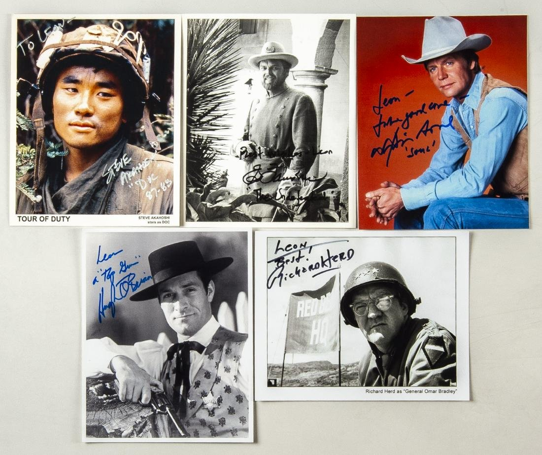 15 Military and Western Movie Autographs - 2