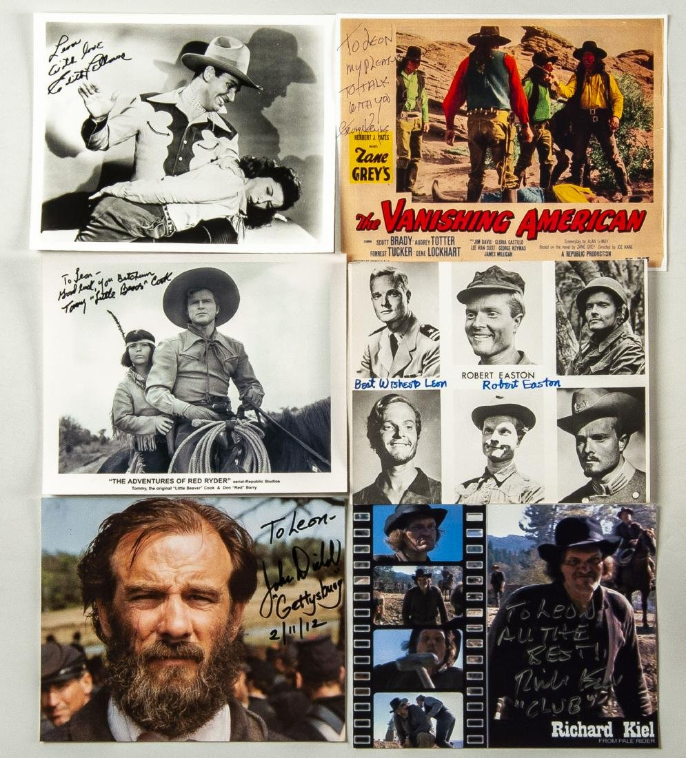 15 Military and Western Movie Autographs - 3