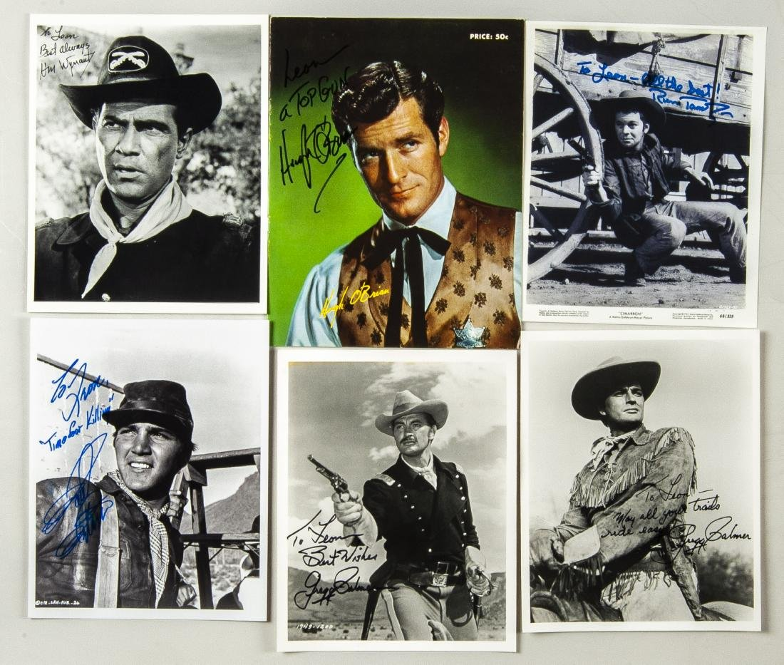 15 Military and Western Movie Autographs - 4