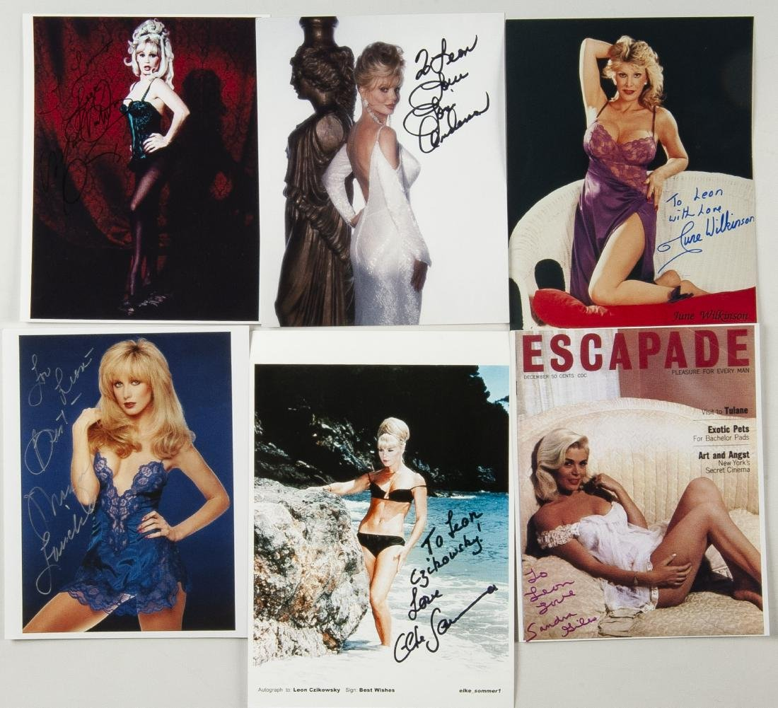 38 Autographed Pin Up Model Photographs - 2