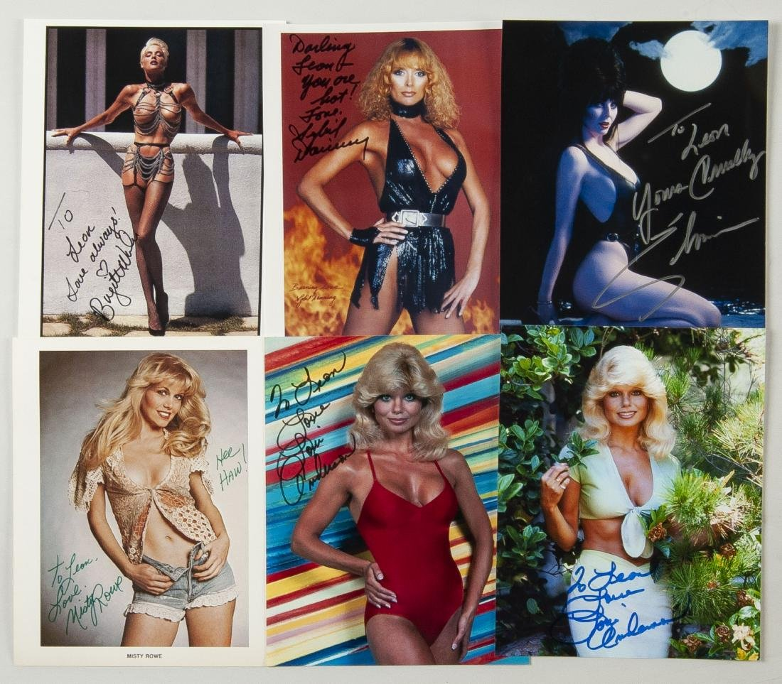 38 Autographed Pin Up Model Photographs - 3
