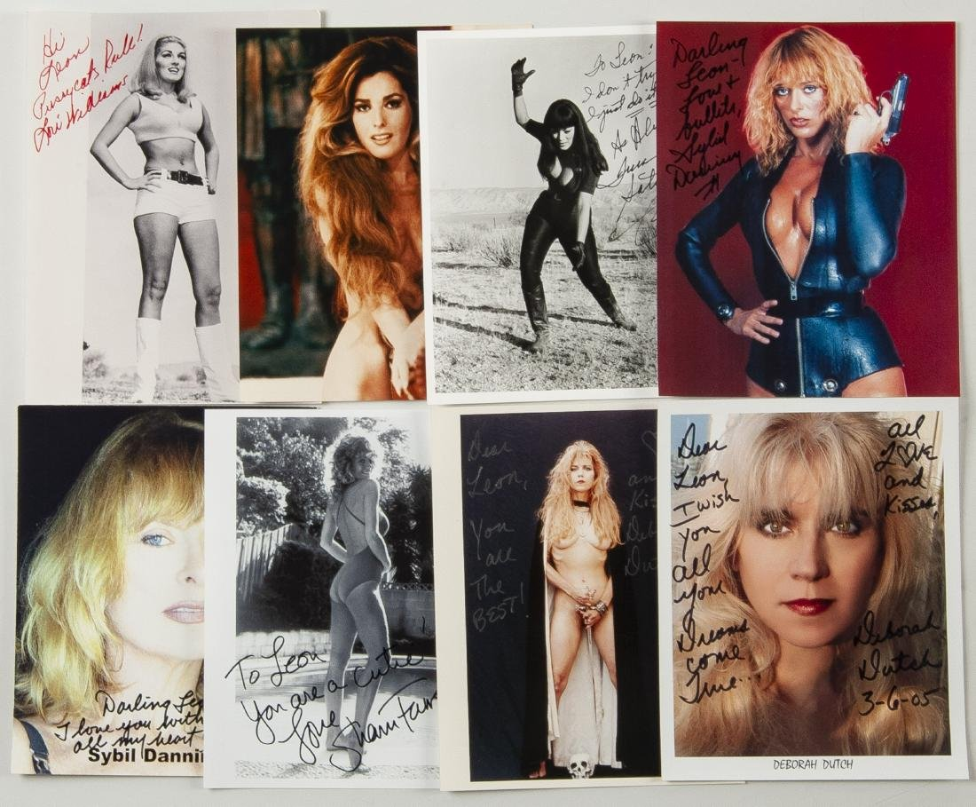 38 Autographed Pin Up Model Photographs - 4
