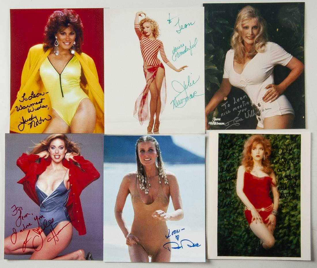 38 Autographed Pin Up Model Photographs - 6