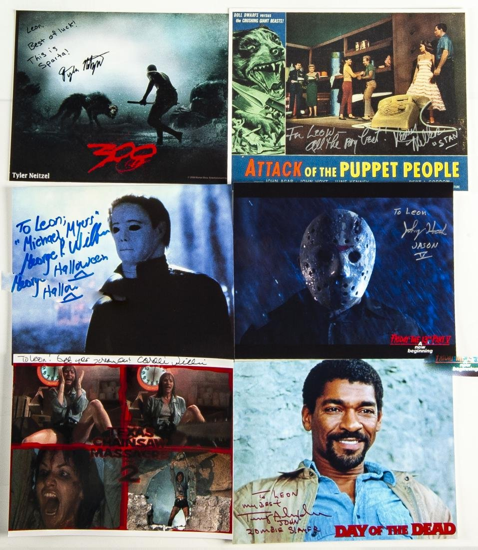 30 Horror Movie Autographed Photos - 2