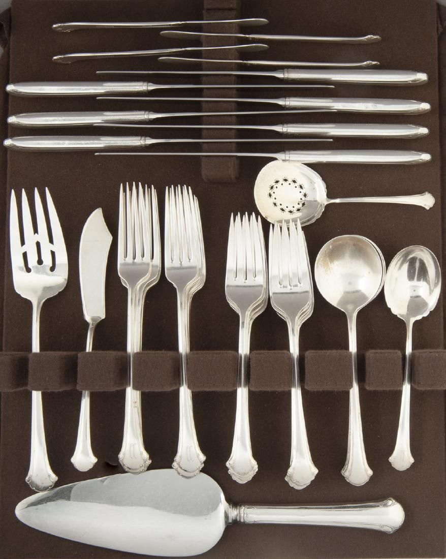39 Pcs Towle Chippendale Sterling Flatware