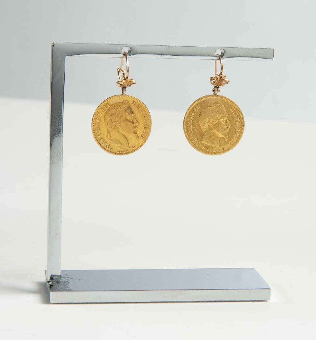French Gold Coin Earrings