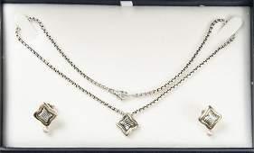 D. Yurman 18K Sterling Necklace & Earrings