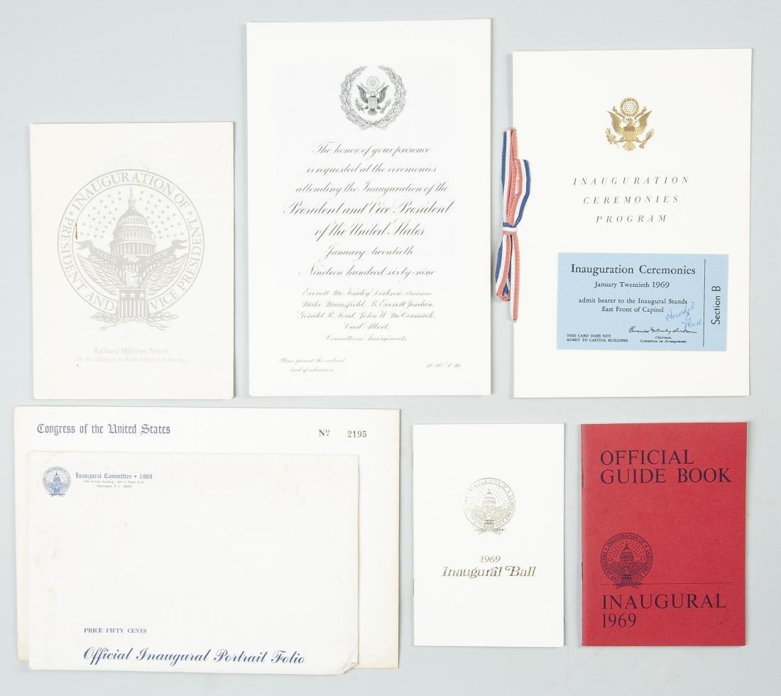 1969 Presidential Inauguration Invitation & Docs