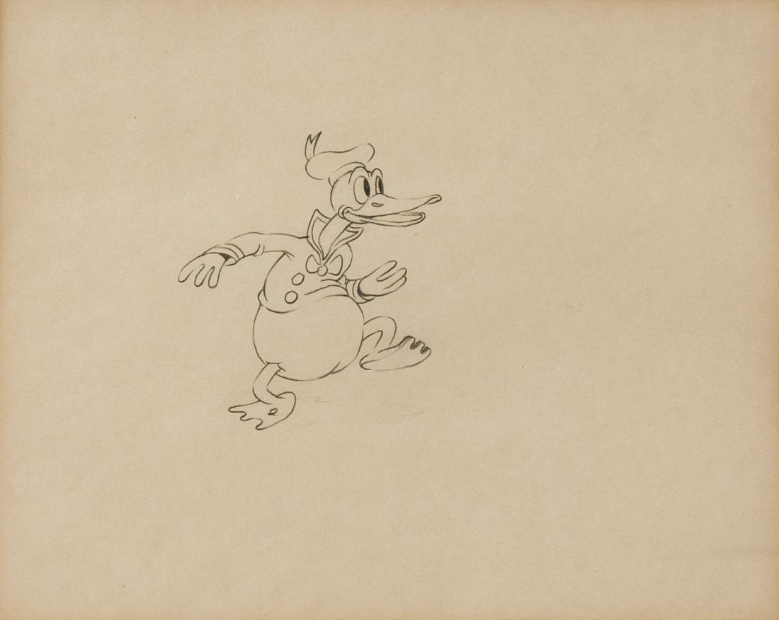 3 Framed Original Donald Duck Drawings - 3