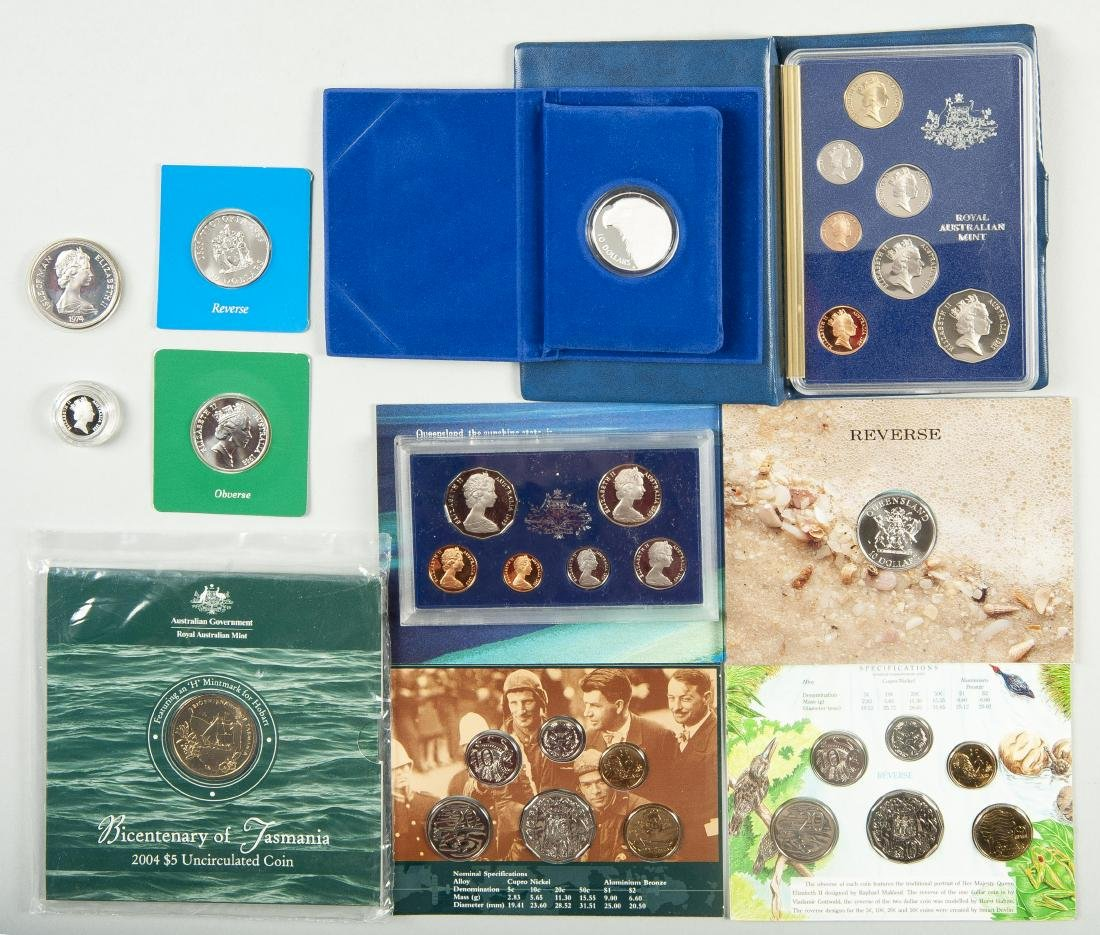 5 Royal Australian Mint Coins and 5 Sets