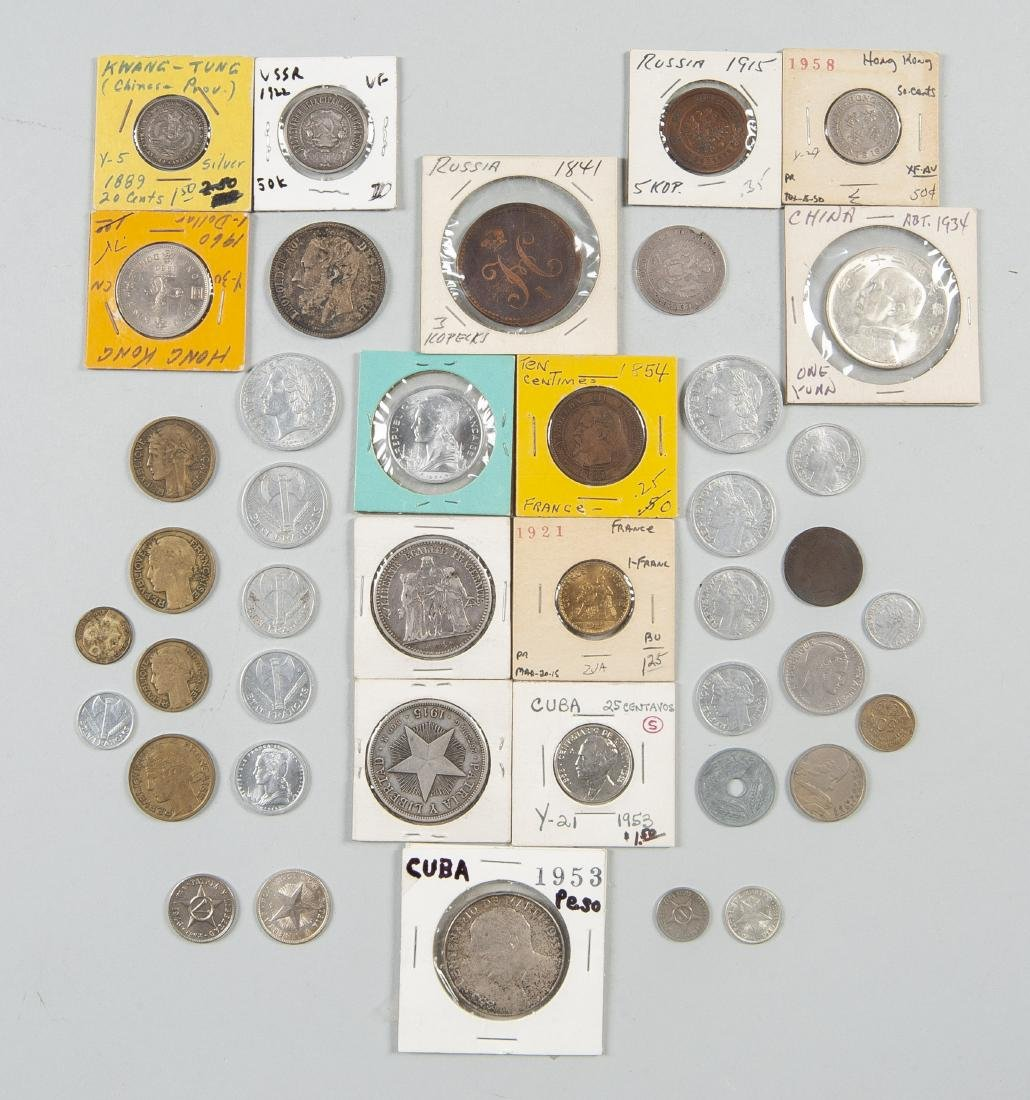 46 Foreign Coins incl Silver