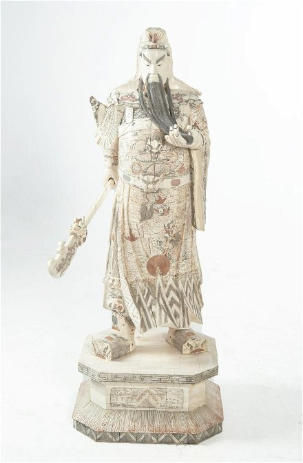 Carved Chinese Bone Warrior Guard Feb 09 2019 Cordier Auctions Appraisals In Pa