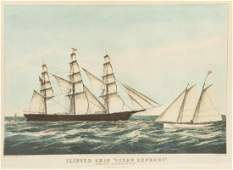 Currier  Ives Publishers Clipper Ship