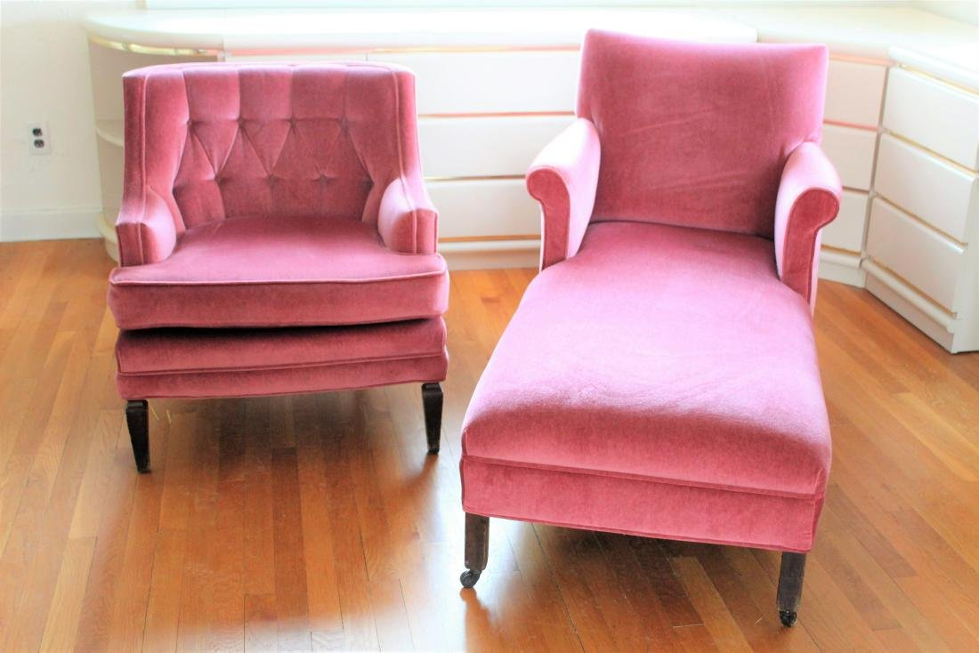 2 Pink Chairs. Arm and Lounge.