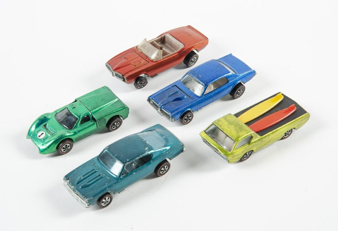 5 Hot Wheels Redlines