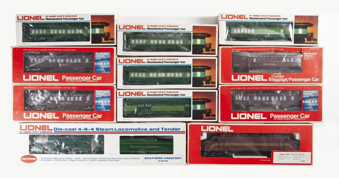 11 Pcs Lionel Passenger Car Incl Locos in OBs - 2