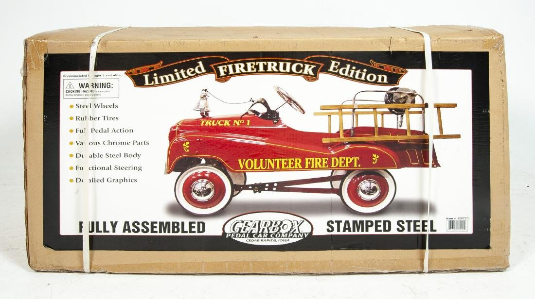 Gearbox Limited Edition Fire Truck Pedal Car in OB