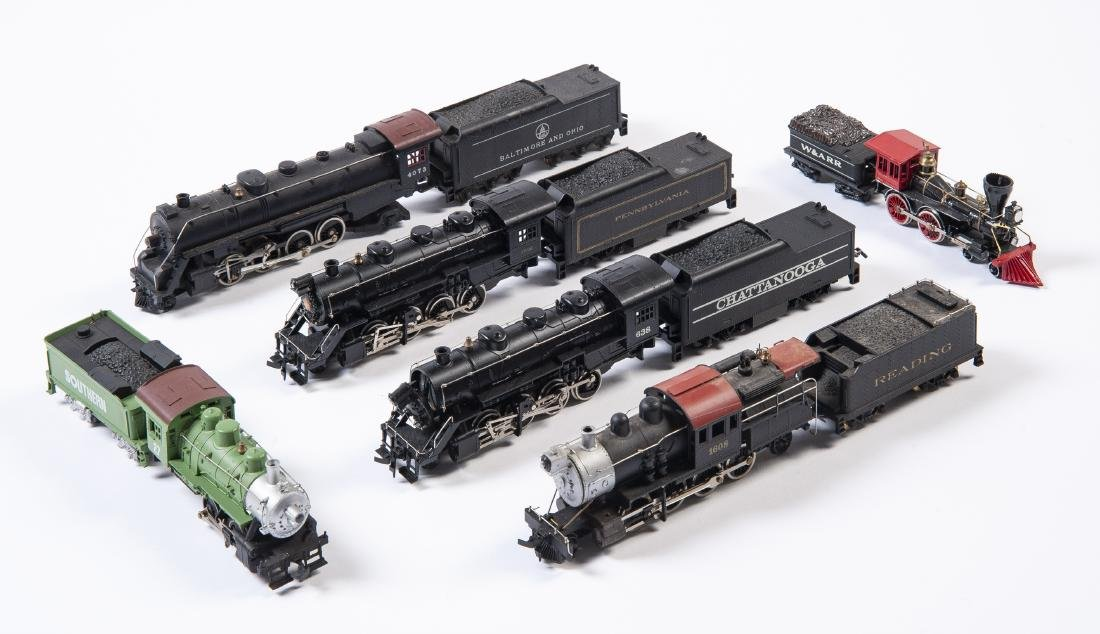6 HO Scale Steam Locos & Tenders Incl Tyco