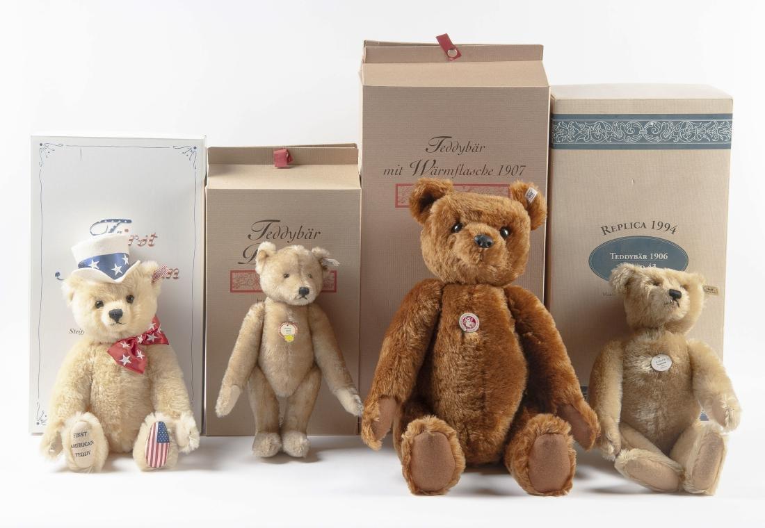 4 Limited Edition Steiff Teddy Bears