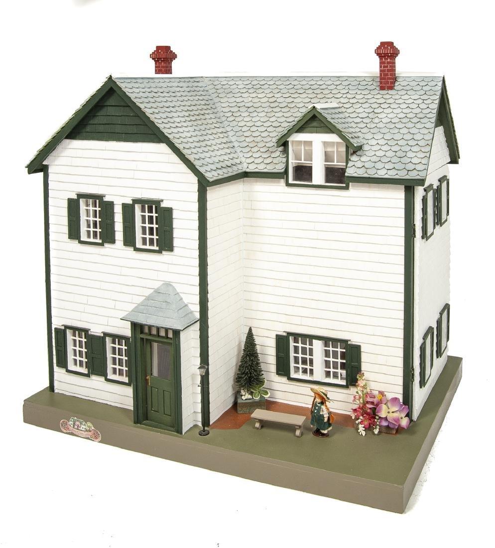 Large Handmade Green Gables Wooden Dollhouse
