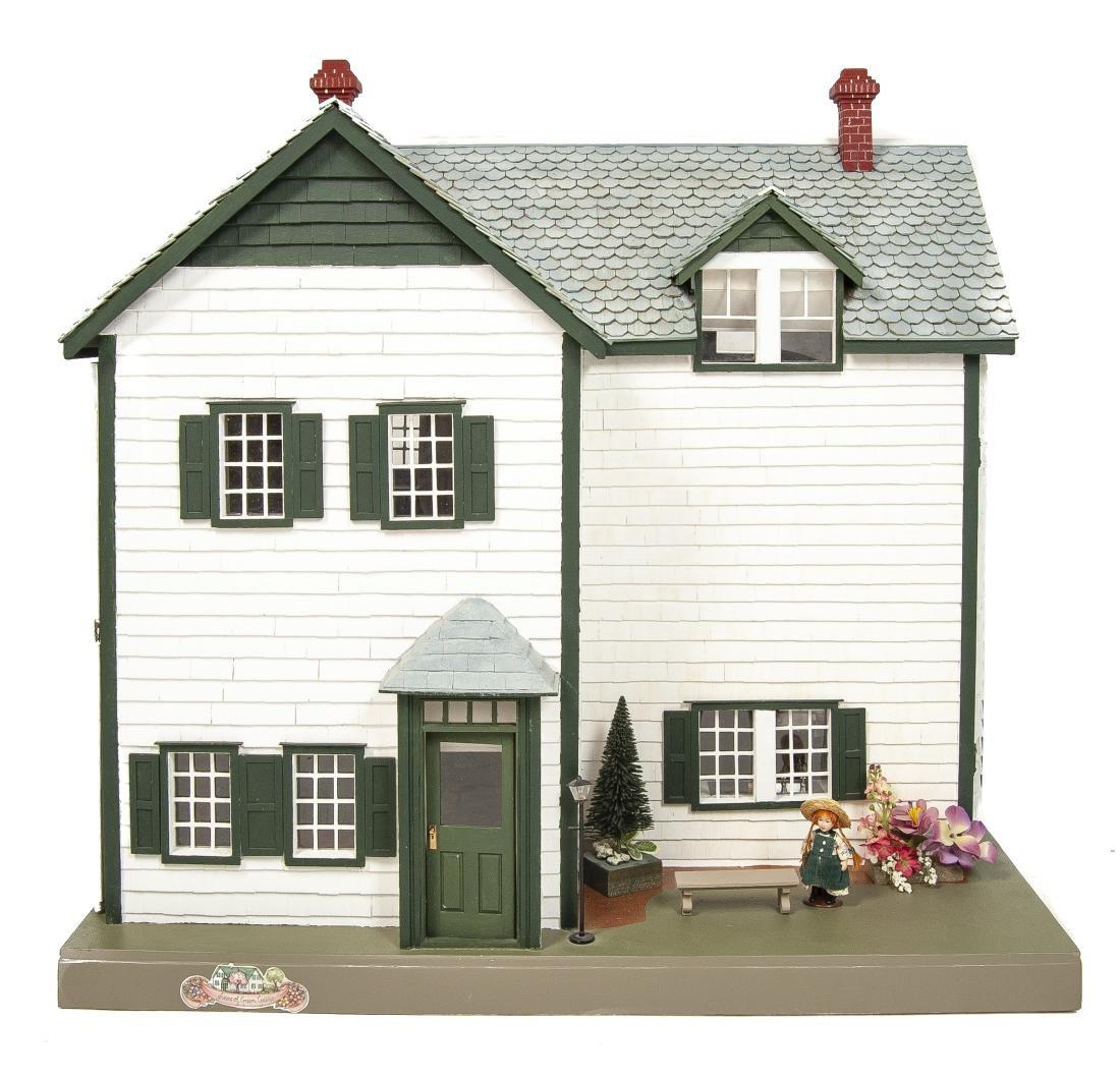 Large Handmade Green Gables Wooden Dollhouse - 2