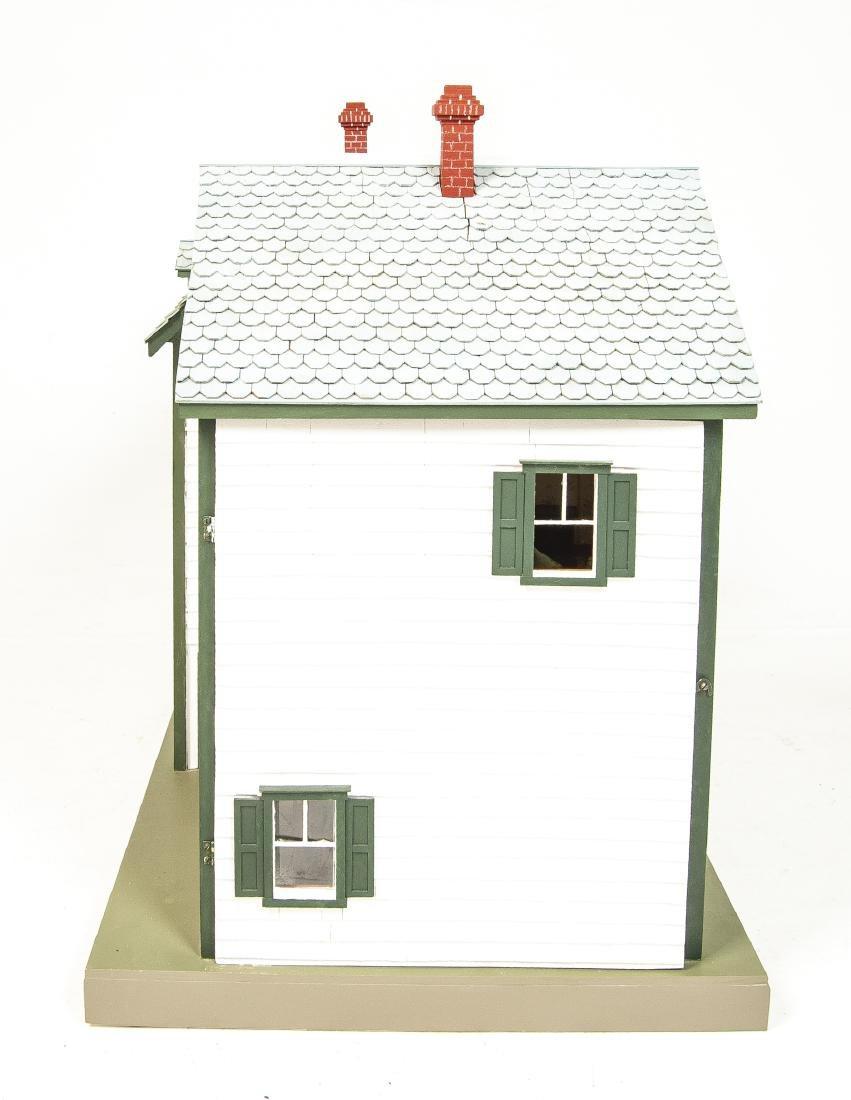 Large Handmade Green Gables Wooden Dollhouse - 3