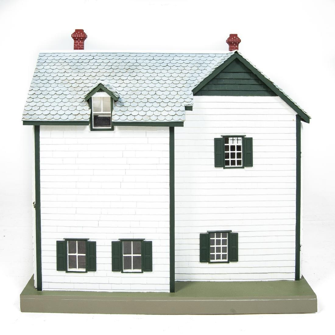 Large Handmade Green Gables Wooden Dollhouse - 4