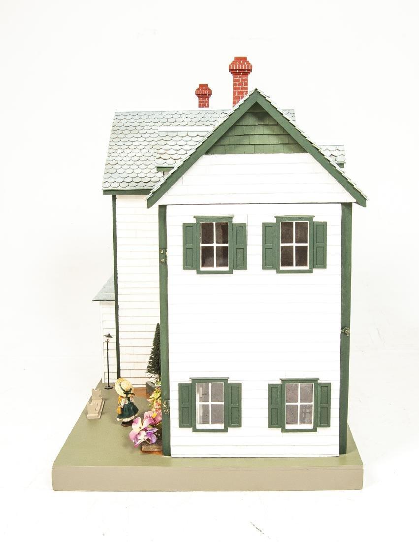Large Handmade Green Gables Wooden Dollhouse - 5