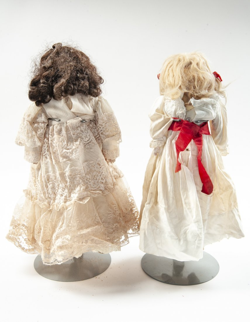 2 German Bisque Head Dolls - 3