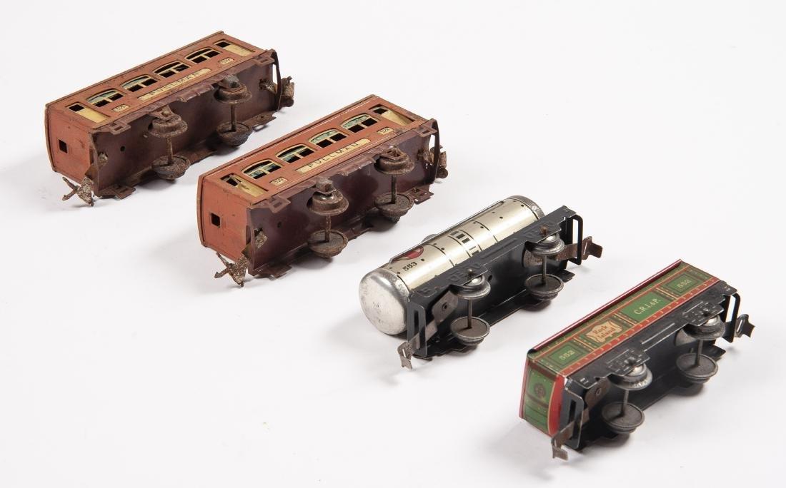 7 Tin Litho Prewar Train Cars Incl Lionel & Marx - 3