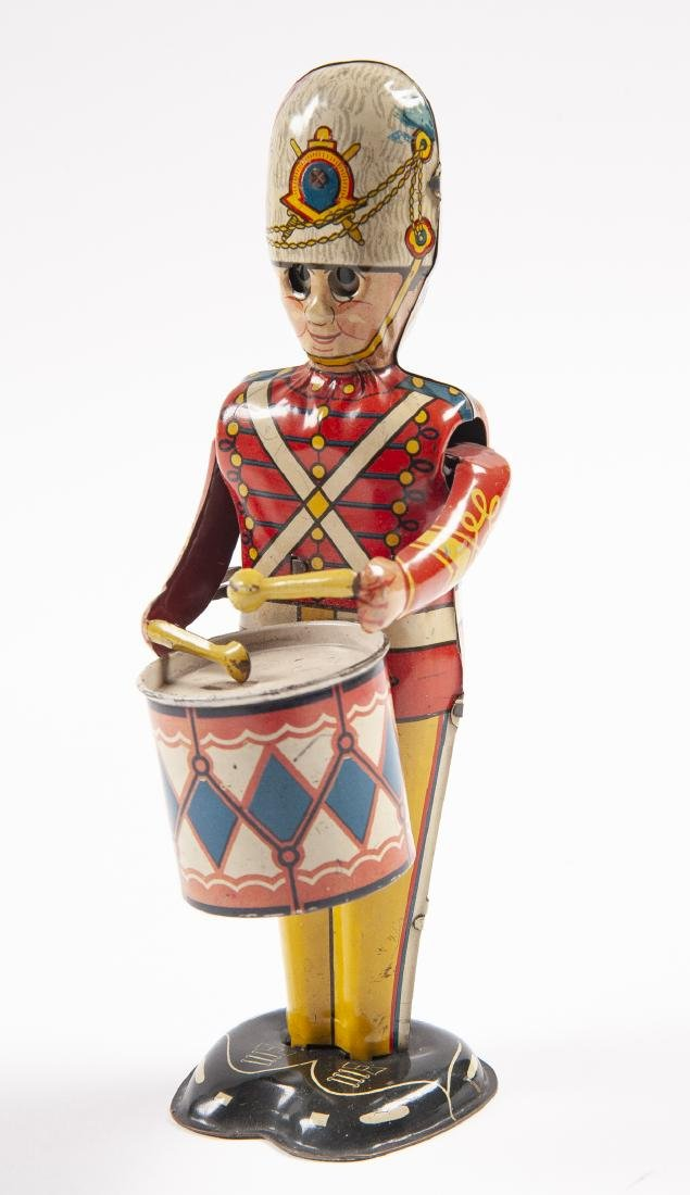 Marx Tin Wind-Up George the Drummer Boy Toy