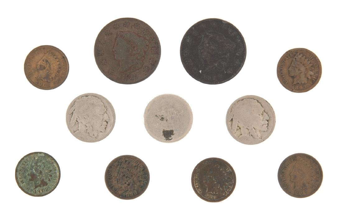 11 Type Coins incl Indian Cent and Buffalo Nickels