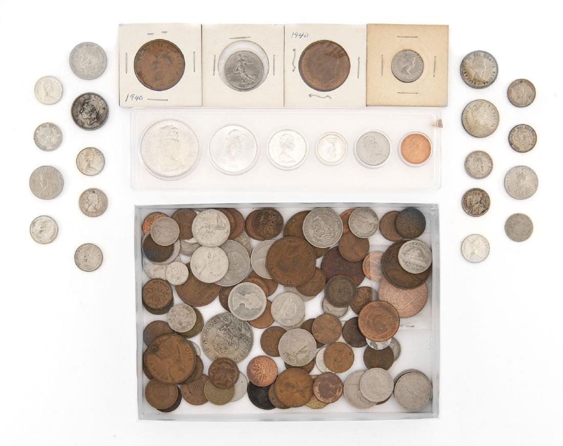 93 Foreign Coins and Tokens