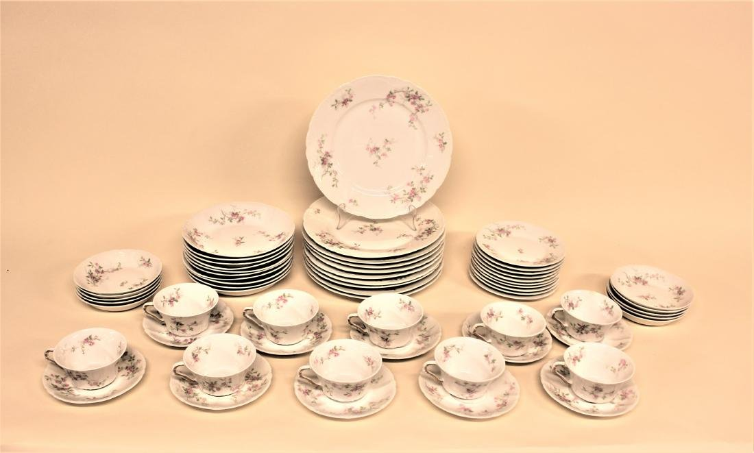 "60 Pcs ""Rose"" by Haviland Limoges Dinnerware"