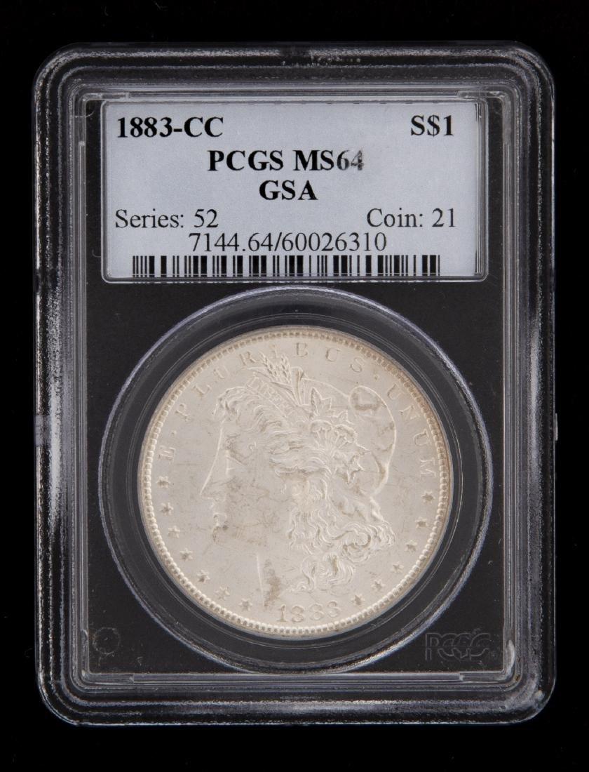 1883-CC PCGS Graded Morgan Silver Dollar
