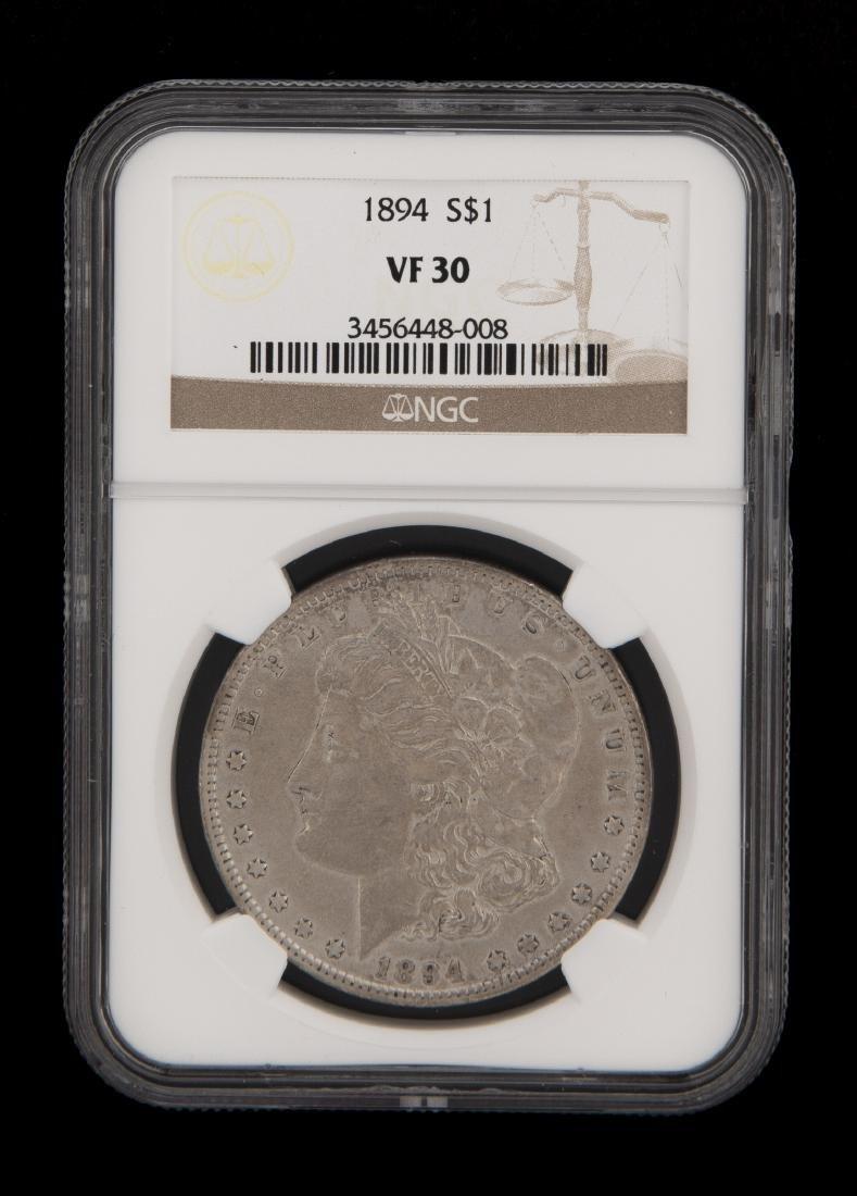 Rare 1894 NGC Graded Morgan Silver Dollar